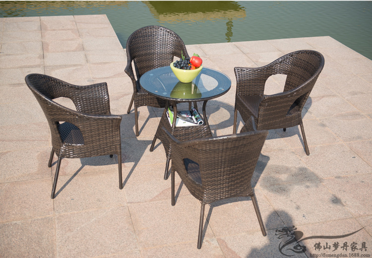 Rattan chair and coffee table casual outdoor furniture balcony garden rattan table and chairs LT01(China (Mainland))
