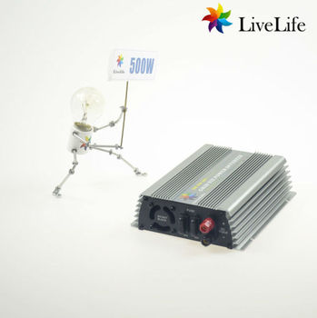 LiveLife micro inverter! 500w solar grid tie power inverter, 22-60v to 220v, DC to AC