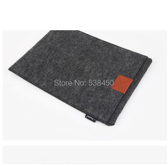 Free Shipping Dark Gray Woolen Felt Envelope Laptop Sleeve Bag Case Skin For MacBook Air Pro