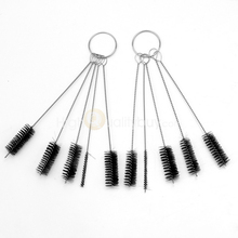 Hot 2 Sets Piercing Tattoo Machine Needle Mouth Spray Airbrush Cleaning Brush(China (Mainland))