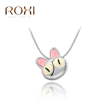 ROXI Christmas Gift New Fashion Jewelry Platinum Plated Statement Cute Cat Necklace For Women Party Wedding Free Shipping