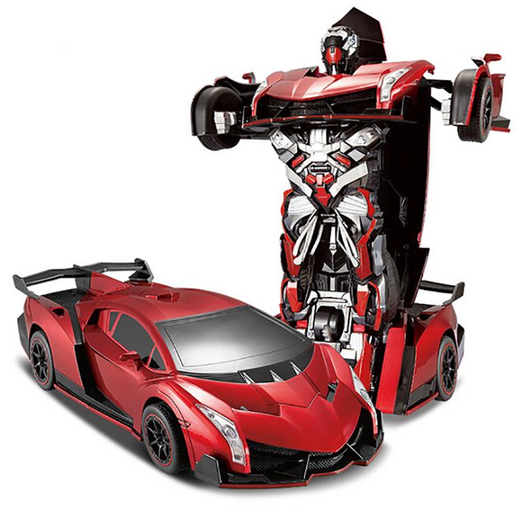 Best Christmas gift 2015 ! Remote control deformation key change toys 4 big car robot boy toy model