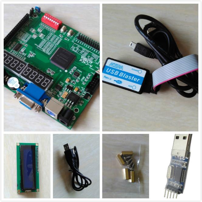 Free shipping USB BLASTER+LCD1602+ altera fpga board + altera board altera fpga development board +fpga development board(China (Mainland))