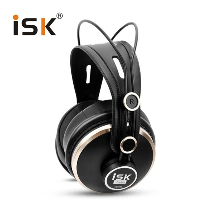 Professinoal HD Monitor Headphones ISK HD9999 Studio DJ Headset Dynamic 1500mW Powerful Over Ear HiFi Earphone Auriculars(China (Mainland))