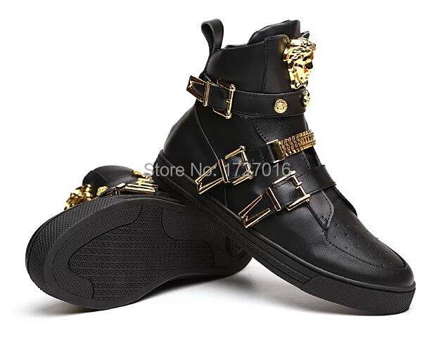 Mens Black And Gold Boots Black Gold Trainer For Men