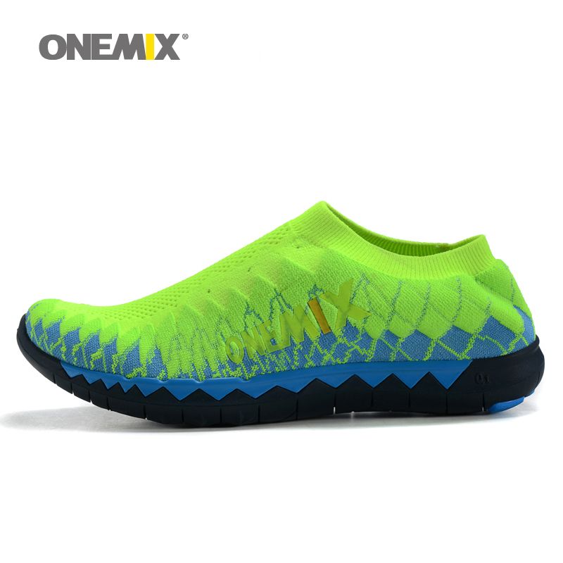 2016 Onemix men's weaving upper jogging shoes sport sneakers portable indoor shoes for men's breathable mesh running shoes(China (Mainland))