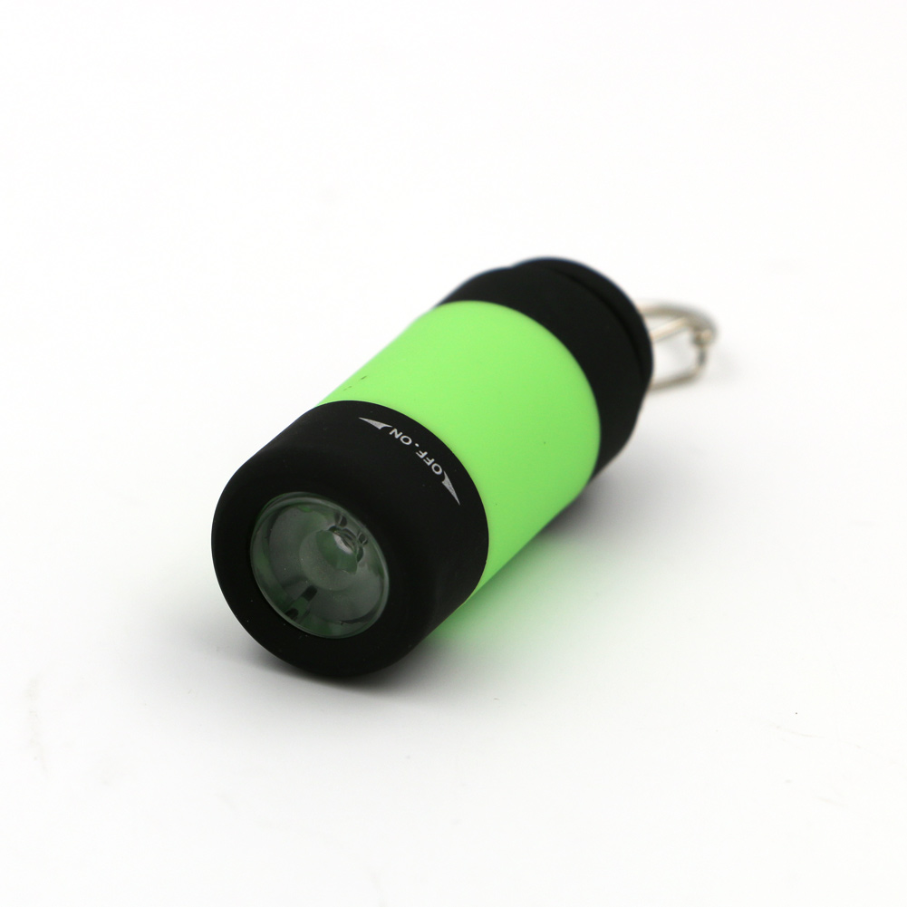 Coquimbo Super Mini 0.3W LED Flashlight USB Ultra Bright Rechargeable Pocket Keychain Light Multicolor USB LED Key Torch Light