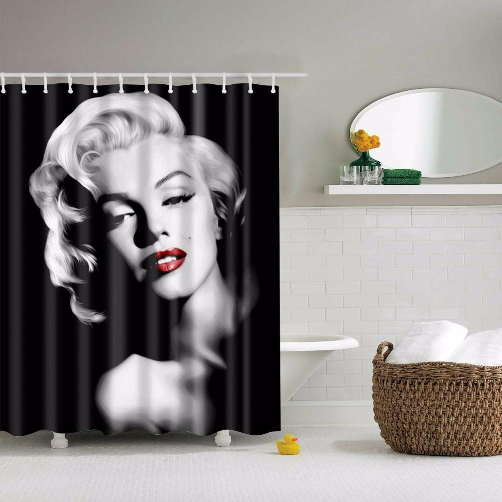 Svetanya Marilyn Monroe Printed Shower Curtains Bath Products Bathroom Decor  With Hooks Waterproof 71x71. Online