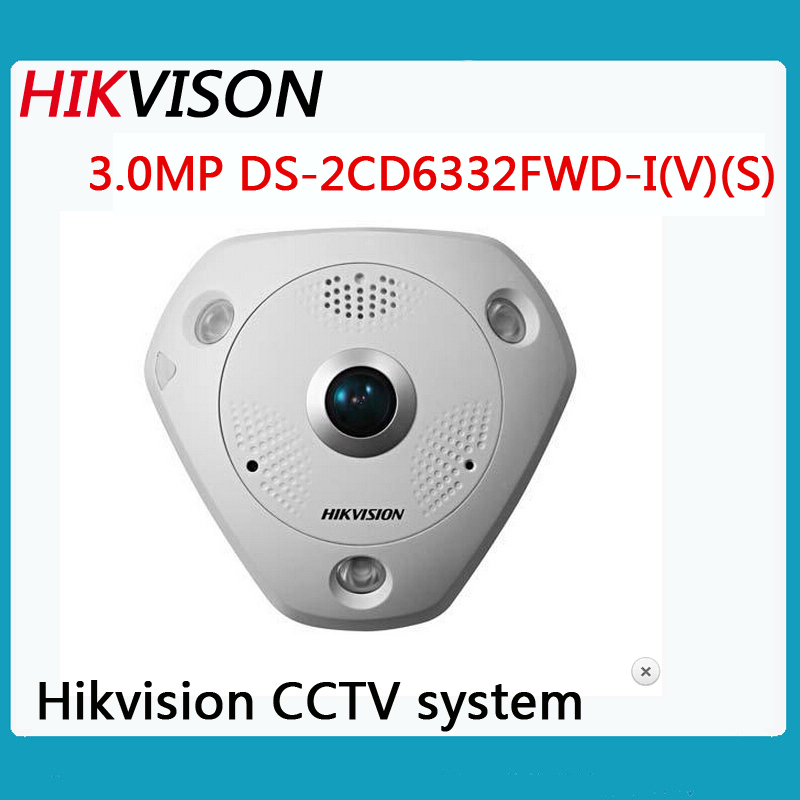 cctv camera Fisheye view type network cameras day and night 3MP HIKVISION DS-2CD6332FWD-I(V)(S)ip camera POE /Micro SD/SDHC/SDXC(China (Mainland))