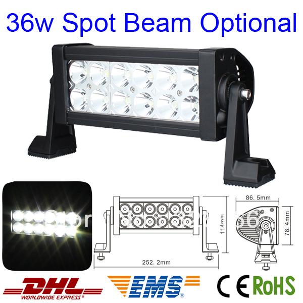 High Quality 36 Watt 10V-30V Spot Beam Off Road 7.5 inch LED light bar 36W LED Working Light Bar Drive Light