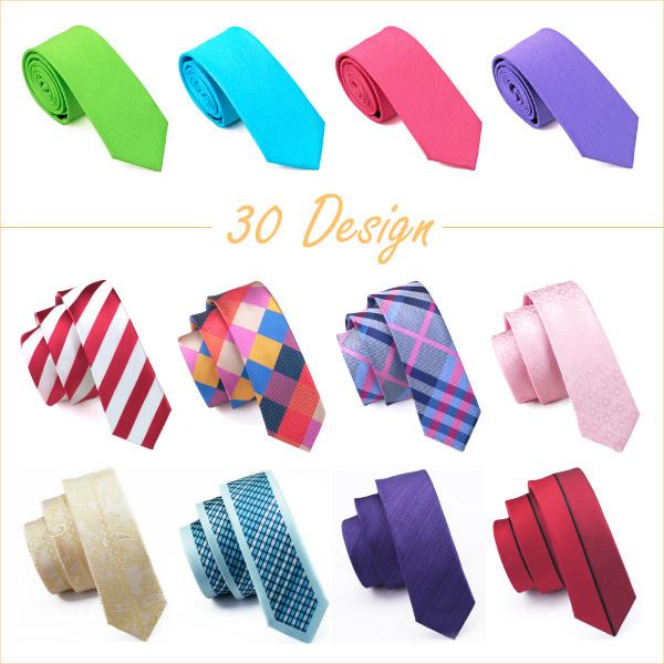 2015 Fashion slim tie 30 Style Silk Jacquard Tie Plain skinny tie Wedding Party Casual Free Shipping Ties For men(China (Mainland))