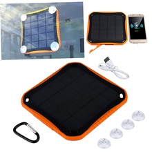 New 5600mAh Waterproof Solar Travel Charger Dual USB External Battery Power Bank Wholesale(China (Mainland))
