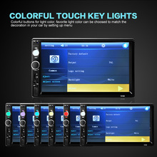 """2 Din 7"""" TFT Screen Bluetooth V2.0 Car Radio Audio Stereo MP5 Player Auto Video Support AUX FM USB SD MMC Remote Control(China (Mainland))"""