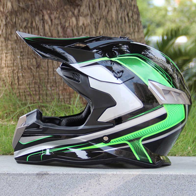 DOT FULL FACE casco capacetes motorcycle helmet off-road dirt bike ATV helmet with lens helmet shield(China (Mainland))