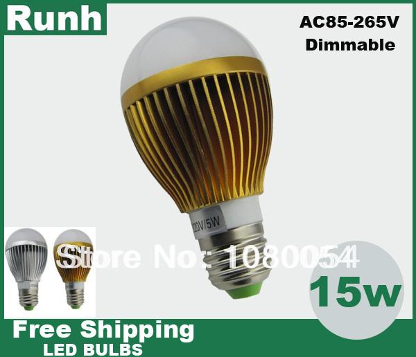 Гаджет  1pcs/lot Free shipping 100% Quality Assurance light bulb lamp led 9W/15W led bulb sportlight 220v E27  b22 dimmable Non-dimmable None Свет и освещение