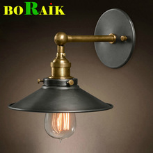 American vintage wall lamp indoor lighting bedside lamps wall lights for home  diameter 22cm 110V/220V E27(China (Mainland))