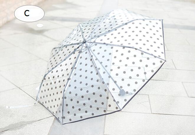 Top Sell 2016 Novelty Print Transparent Umbrella Folding Umbrella Parasols Gift B227 -2(China (Mainland))