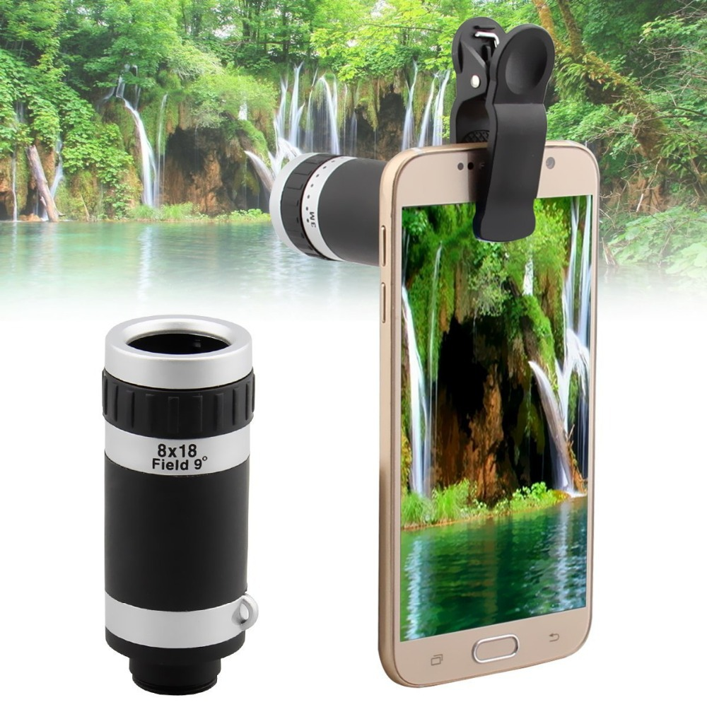 Universal 8X Zoom Optical Lens Telescope for Camera Mobile Smart Cell Phone 8x lens for iphone/ipad/samsung Free Shipping CL-83B(China (Mainland))