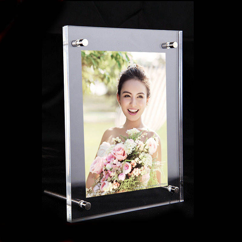 """(GT3160-10inch) Acrylic Plastic Picture Display Frame 10""""x8"""" Modern High Transparency Effect Photo Holder Plexiglass Photo Frame(China (Mainland))"""