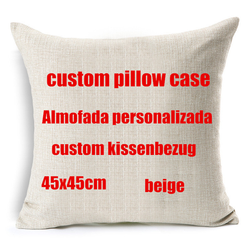 your image here printed custom cushion cover Wedding Pets Personal Photos cotton linen decorative pillow case funda cojines(China (Mainland))