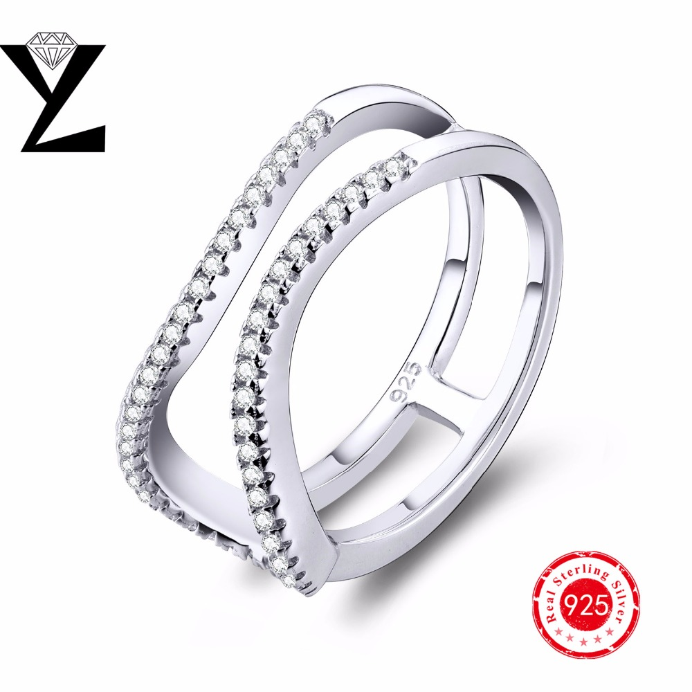 Jewellery Lady's filled princess cut Simulated diamond engagement ring Wedding Rings, silver engagement ring jewelry silver 925(China (Mainland))