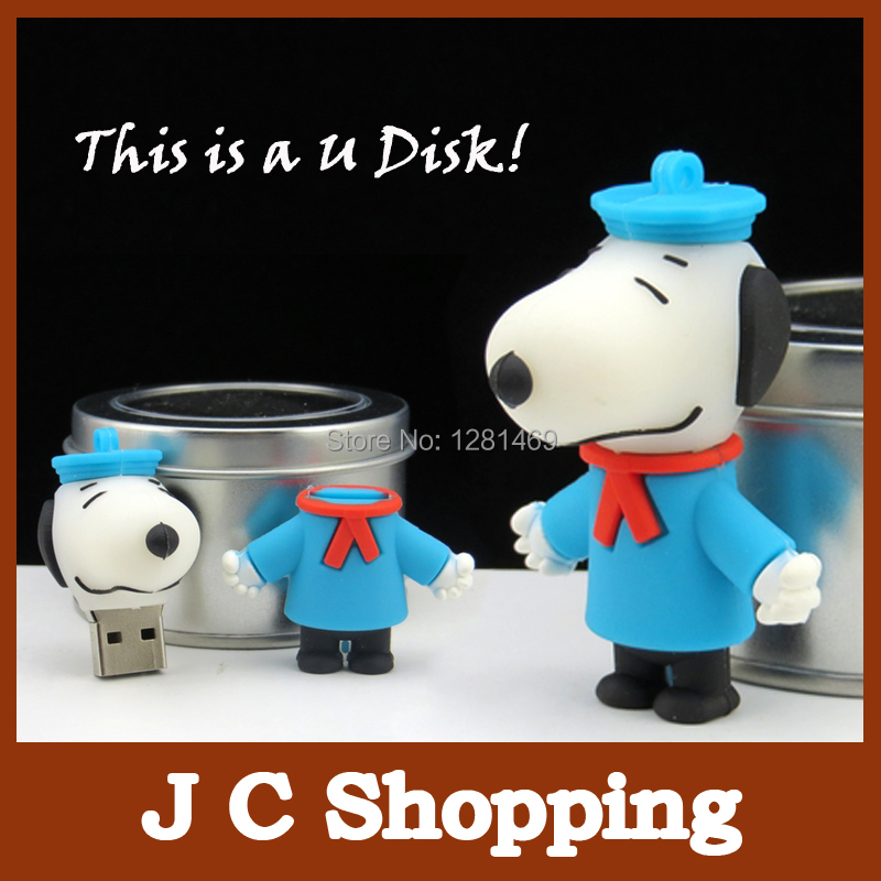 Cartoon dog pendrive Thumb usb flash drive U Disk Flash Disk 2gb 4gb 8gb 16gb 32gb usb flash menory drive free shipping(China (Mainland))