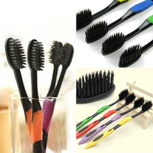 2015 4Pcs Bamboo Charcoal Nano Brush Home Oral Care Double Ultra Soft Toothbrushes Dental Health