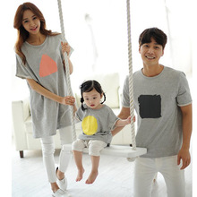 Family Clothing Family Style Cotton T shirts Clothes Mother/Mom and Daughter Father and Son Clothes Family Set HP66