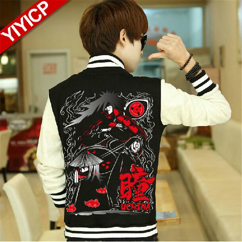 Anime NARUTO Cosplay Clothing 100% Cotton Baseball Jacket Coat Uzumaki Naruto Cosplay Hoodies Unisex Blue/Red/Black Sweatshirts