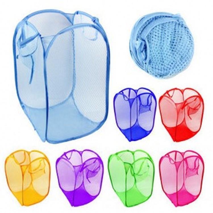 Large Folding Laundry Basket Color Network Storage Dirty Clothes Bucket - BeyondTel Co., Ltd store