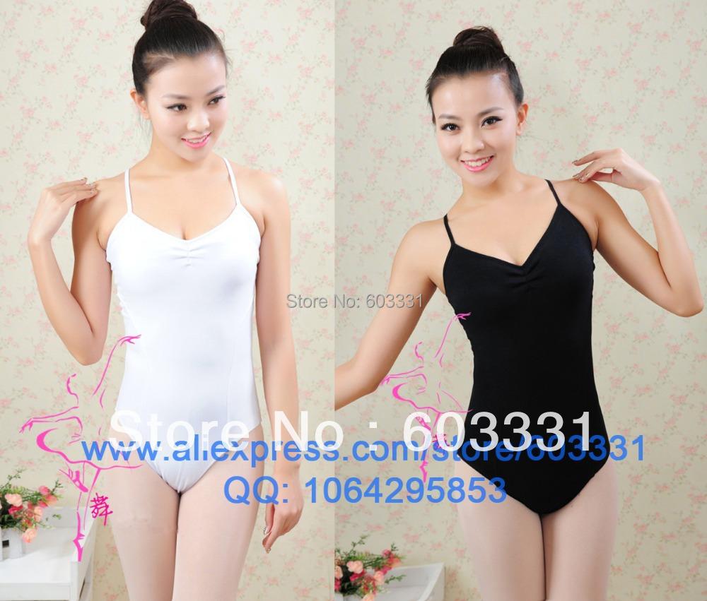 Adult Ladies Women's Cotton Ballet Dance Leotard Yoga Fitness Gymnastics back Lace 3Colors - dance dress store