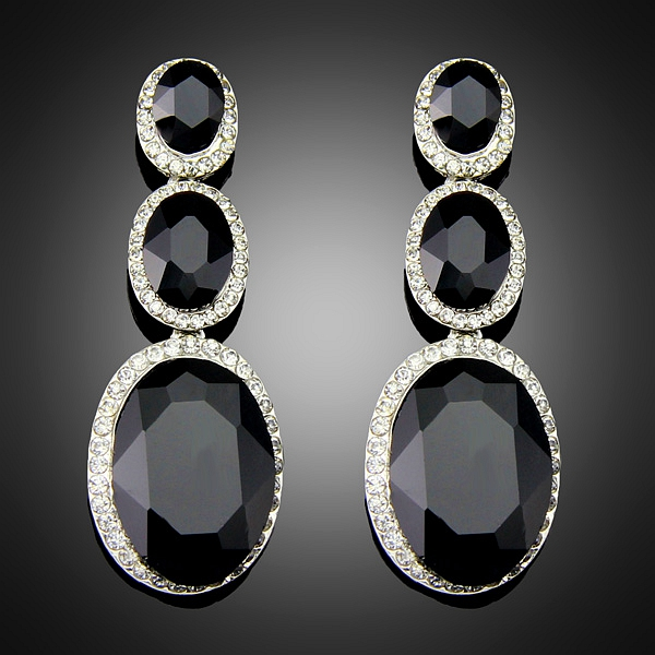Excellent Pearl Earrings For Women Black Pearl Jewelry 925 Silver Jewelry