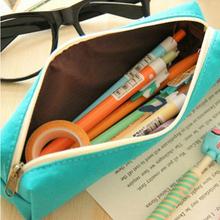 Новый мультфильм холст карандаш чехол старинные творческие милый животных печать школа студенты канцелярские карандаш сумки 4 цветовых Chooes