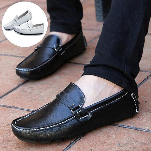2016 Summer Cow Genuine Leather Men Shoes Fashion Casual Man Flats Mocassins Driving Soft Loafers 4 Colors - CN store