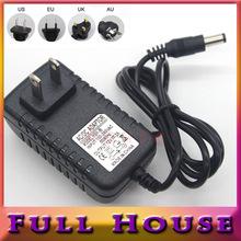 1 unids interruptor de la luz adaptador transformador cargador de alimentación AC100-240V a DC 12 V 2A tira llevada RGB 5050 3528 del cordón de la ue enchufe(China (Mainland))