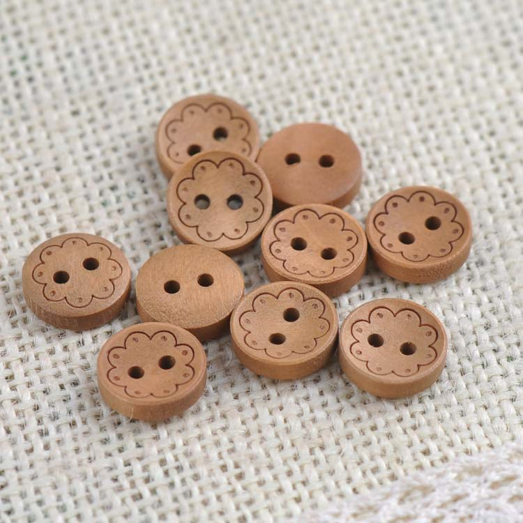 Buy natural decorative wood buttons for for Decorative pins for crafts