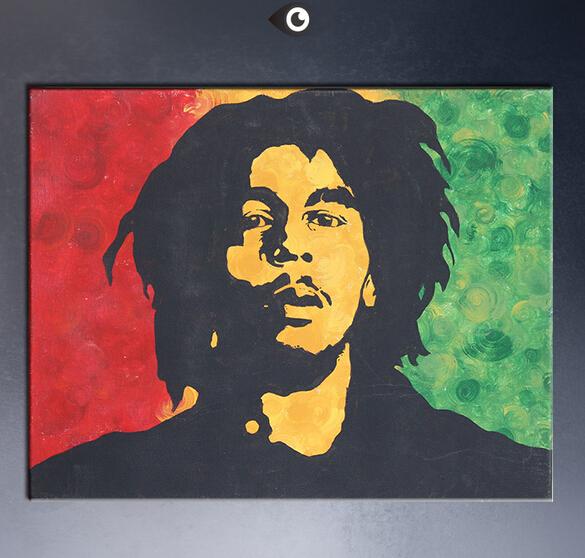 Envoi gratuit bob marley norme art g ant affiche peinture - Cuadros de bob marley ...