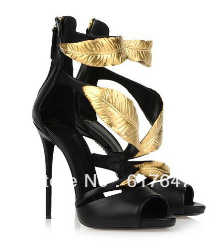 italian newest brand gold leaf designer black and white