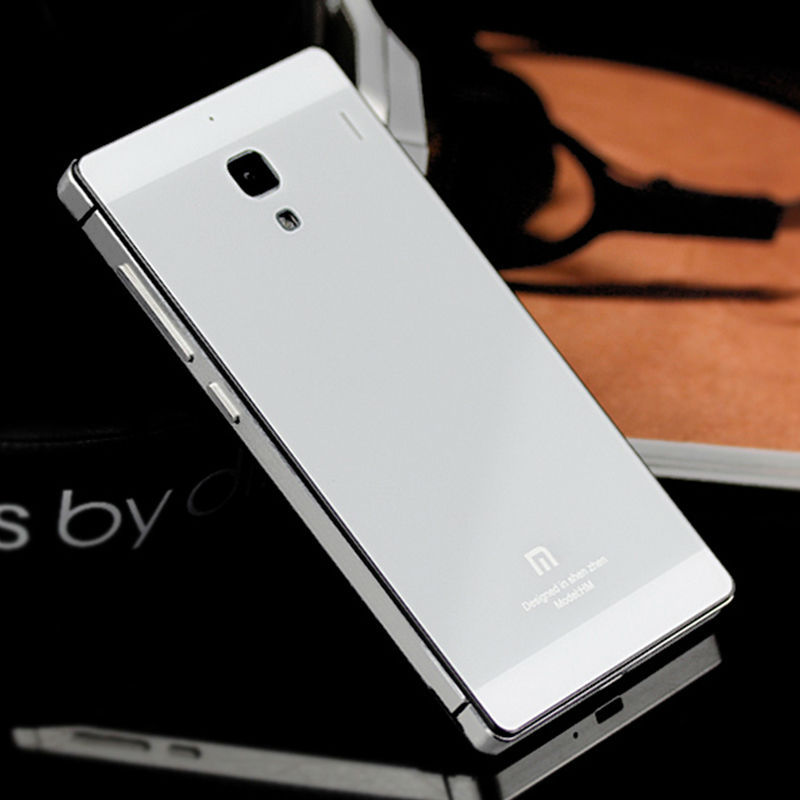 Toughened Glass Back Cover Aluminum Frame Xiaomi Hongmi Red Rice Redmi 1S Luxury Mobile Phone Battery 20 colors - Price Grabber Best & Service store
