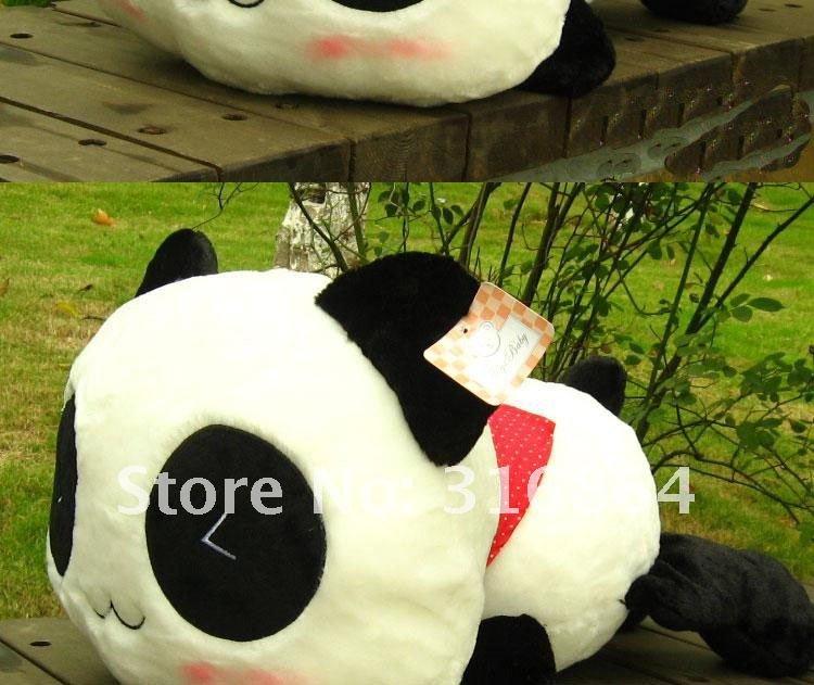 55cm plush toy Christmas gift Lovely dropped panda pillow cushion for leaning on nuking panda plush toys freeshipping(China (Mainland))