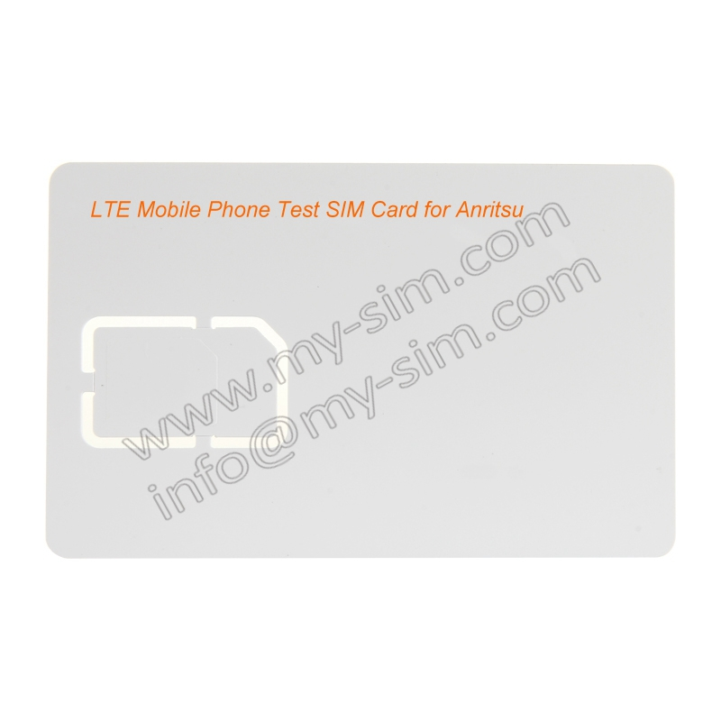 (10 pieces) LTE Mobile Phone Test SIM Card with Micro and Standard Cut for Anritsu Communication Tester(China (Mainland))