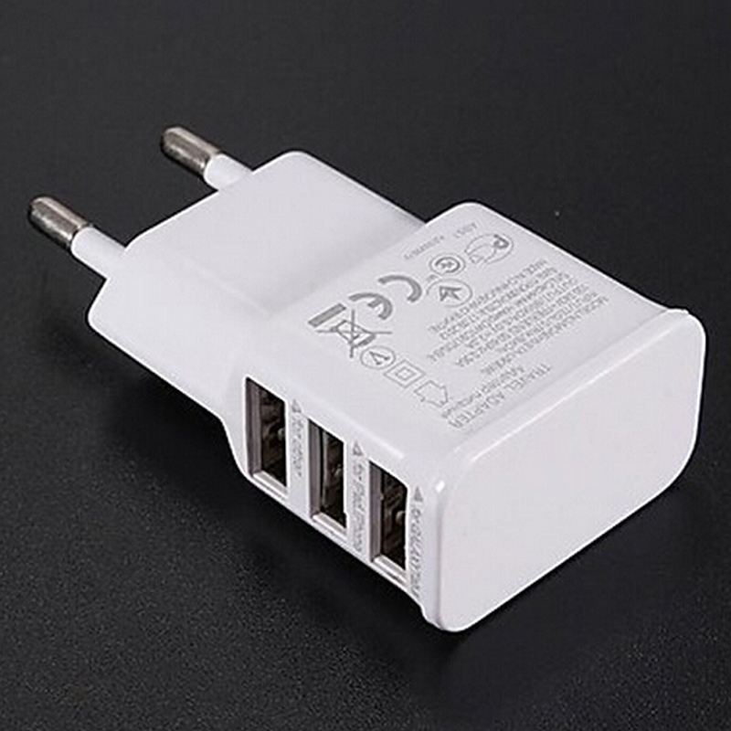 3 Ports EU Plug USB Wall AC Charger Adapter for Samsung Galaxy S5 S4 S3 S2 Note 4 for Apple iPhone(China (Mainland))