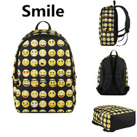 VN priting backpack fashion smile bag casual children school bags for teenagers brand men backpack women's backpacks travel bags
