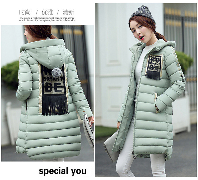 2016 Rushed Ukraine Winter Coat In The Long Section Of New Women's Padded Korean Female Slim Hooded Thick Jacket One Generation