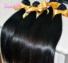 silky straight Brazilian human remy hair extension 5pc/lot factory outlet price(China (Mainland))