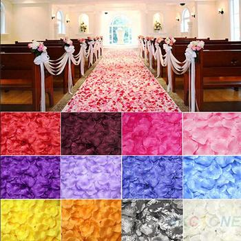100pcs/lot Wedding Decorations Fashion Atificial Flowers Silk Flowers Polyester Wedding Rose Petals patal
