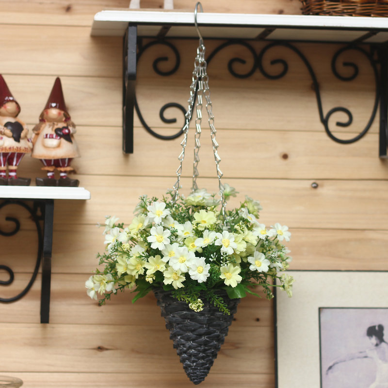 Decorative Hanging Flower Baskets : Aliexpress buy artificial flower set basket