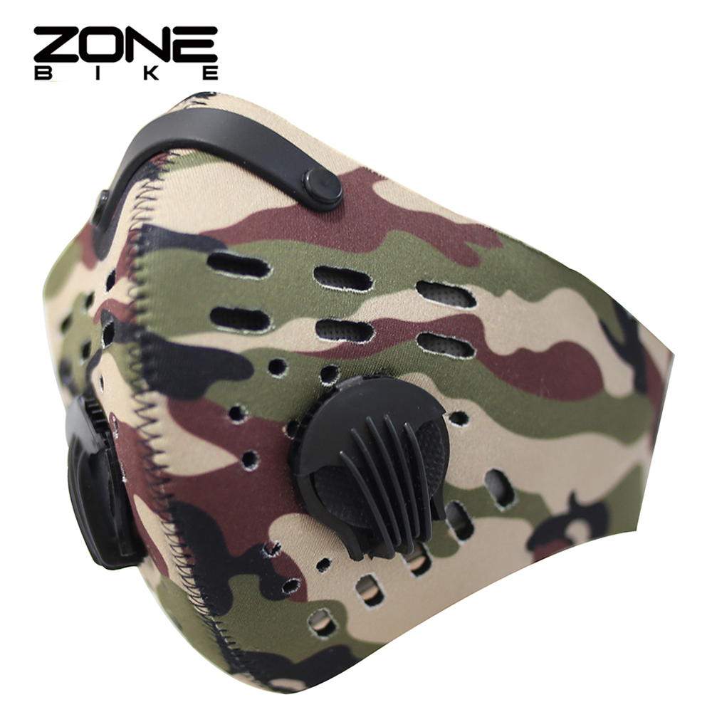 ZONEBIKE Windproof Sports Dust Mask Bike Cycling Facemask Carbon Filter Bicycle Face Shield Bisiklet Maske Training Equipment(China (Mainland))