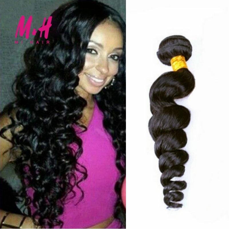 King Hair Products 6A Peruvian Virgin Hair Loose Wave 8-30inch Cheap Peruvian Curly Hair Weave Bundles Wet And Wavy Human Hair