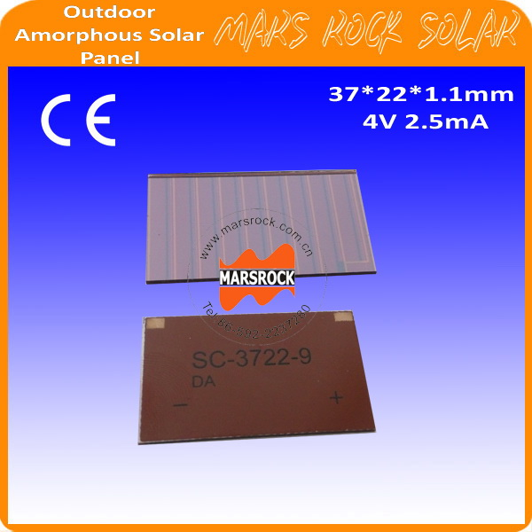 4V 2.5mA 37x22mm Thin Film Amorphous Silicon Solar Cells for Outdoor Products apply for Toys,Calculator,Mini solar panel,Lamps(China (Mainland))